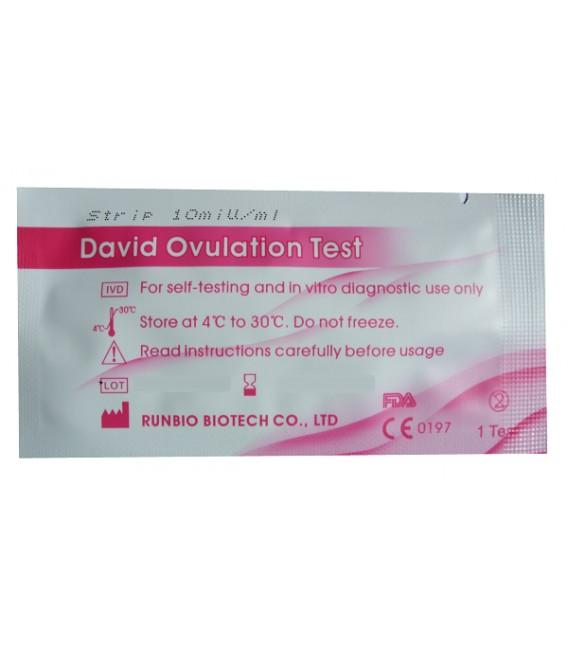 """Testas ovuliacijai nustatyti """"DAVID"""" (juostelė, jautrumas -10mIU)"""